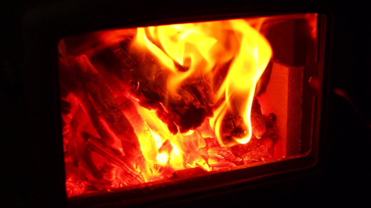 Enviro Kodiak Wood Fireplace Insert Burn Video - YouTube