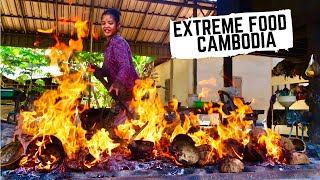 EXTREME CAMBODIAN cooking | Unseen Cambodian street food in the countryside | Battambang local food