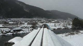 【4K全区間前面展望】冬の長良川鉄道 美濃太田→北濃【観光ガイド乗務♪】