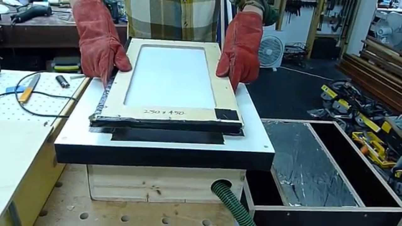 DIY Vacuum Forming Machine 3mm Acrylic Sheet Prototyping Shop Built Home  Made   YouTube