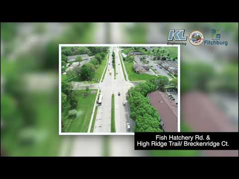 North Fish Hatchery Road Project Aerial Overview