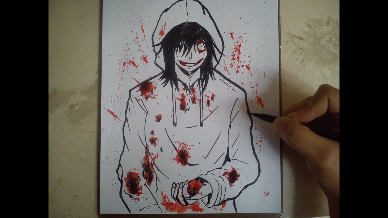 Dibujos Para Imprimir De Jeff De Killery Jane De Killer: COMO DIBUJAR A JEFF THE KILLER / How To Draw Jeff The