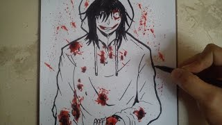COMO DIBUJAR A JEFF THE KILLER / how to draw jeff the killer