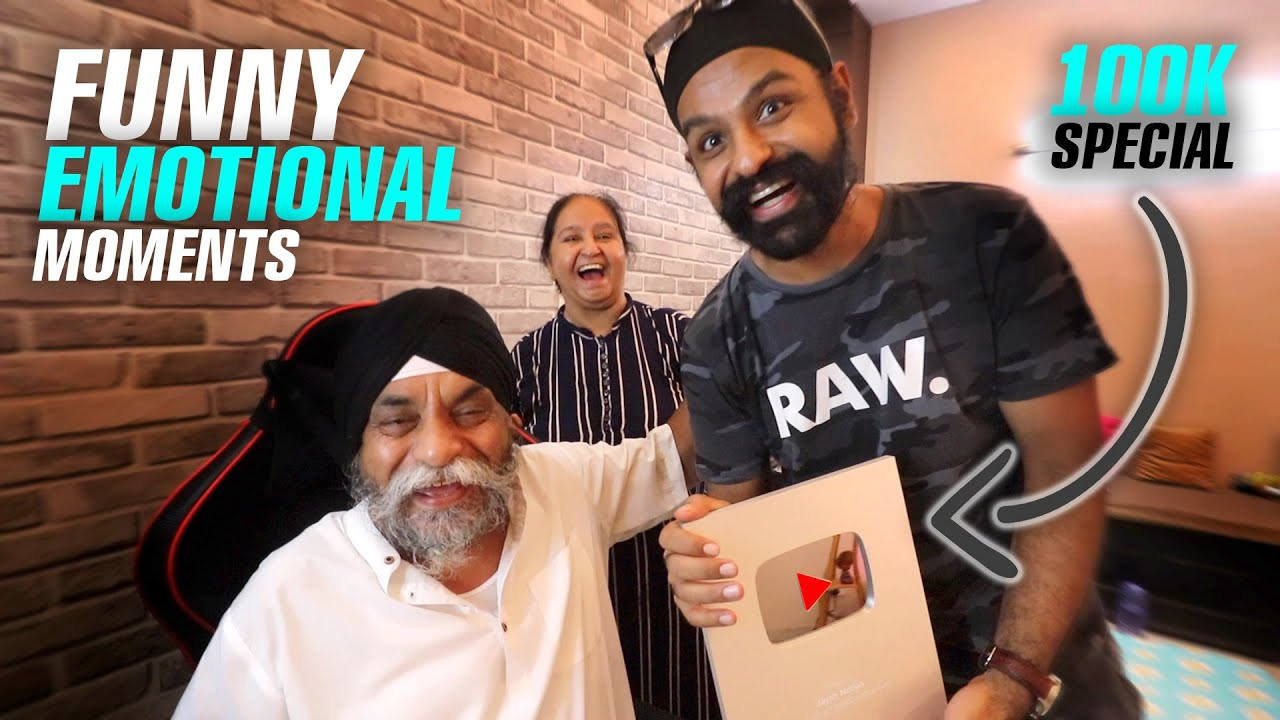 Parents UNBOXING our Silver PLAY Button !!