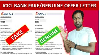 ICICI Bank Offer letter Original vs Fake Kaise Pata Kare 2021 #EmploymentGuruji #Job_Dekho