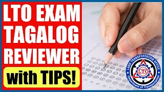 Cover images LTO EXAM REVIEWER 2020 | TAGALOG | with TIPS!