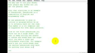 Python 3 Programming Tutorial [16] Algorithms & Pseudocode (How to plan your programs!)