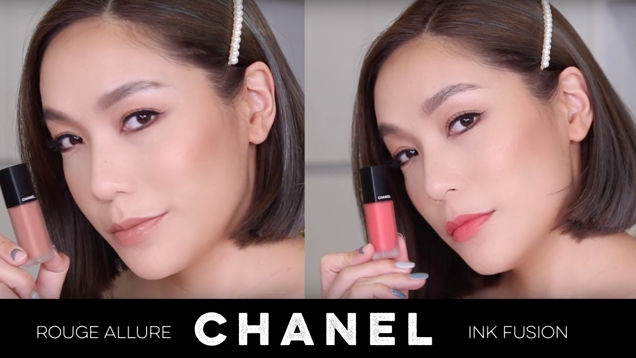 DAILYCHERIE : CHANEL Rouge Allure Ink Fusion 12 สีใหม่ สีไหนน่าโดน swatch บนปากให้ดู