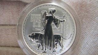 [HD] 2001 Proof Britannia - 1 oz Silver Coin - The Royal Mint