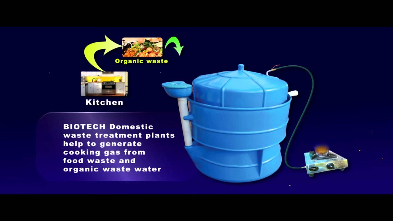 BIOTECH Designed Portable Bio Gas Plant.   YouTube Part 9