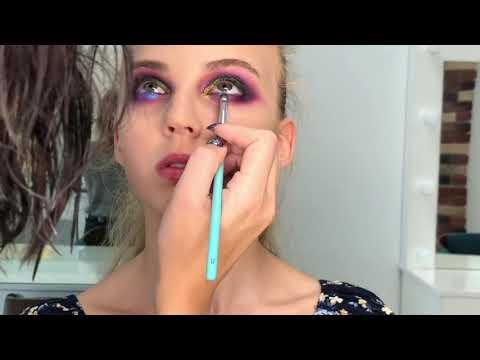 Яркий цветной макияж (color makeup)