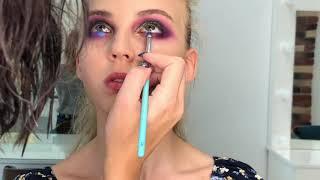 Яркий цветной макияж color makeup