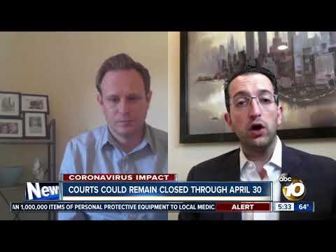 San Diego Superior Court Closed Through April