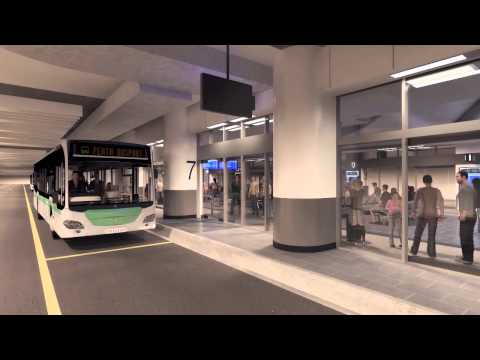 Perth City Link Bus: Perth Busport Animation