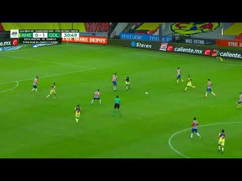 Gol de C. Calderón | América 0 - 1 Chivas | Liga MX - Guardianes 2020 Apertura  | LIGA BBVA MX