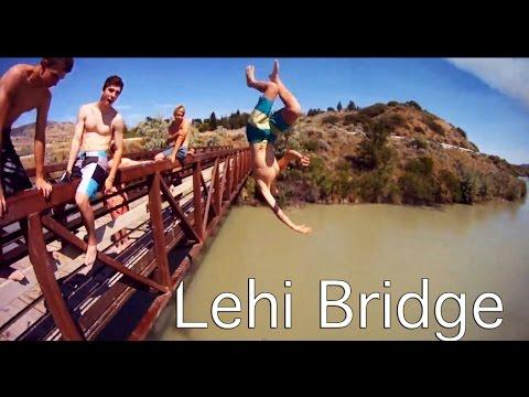 LEHI UTAH BRIDGE JUMP