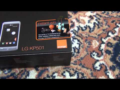 Unboxing of LG KP501