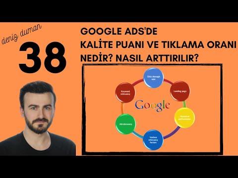 Kalite Puanı Ve Tıklama Oranı Nedir ? Nasıl Arttırılır ? | Google Ads 2021 Ful E