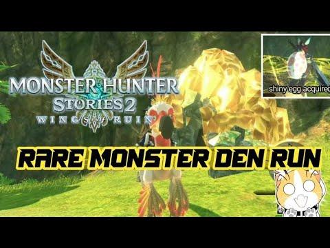 MONSTER HUNTER STORIES 2 : WINGS OF RUIN - RARE MONSTER DEN RUN |