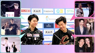Yuzuru Nathan fun battle vs ladies figure skater Anna Sasha Alina | Funny & Cute WTT Preview