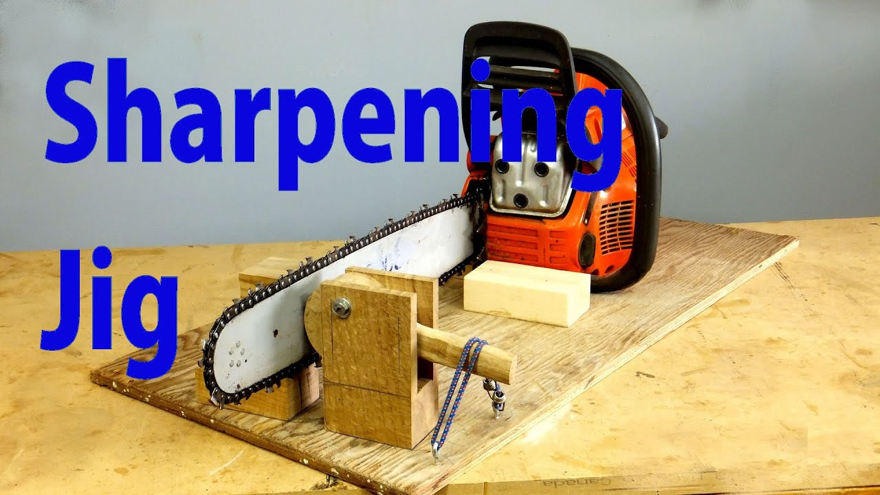 Build A Chainsaw Sharpening Jig Chainsaw Sharpener Youtube