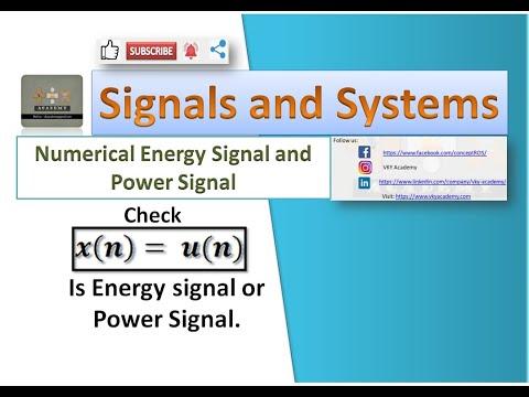 Numerical 6| Check u [n] is  Energy Signal or Power Signal | Unit Step Signal is Energy or Power