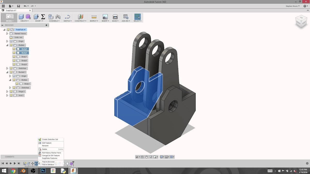 fusion 360 how to add joint to two bodies