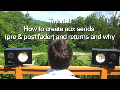 how to create aux channels reaper