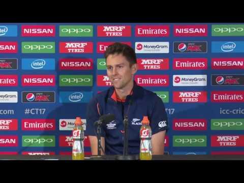 Trent Boult pre New Zealand vs Bangladesh ICC champions trophy match press conference 2017