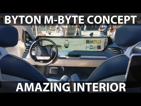 Byton M-Byte Concept amazing interior