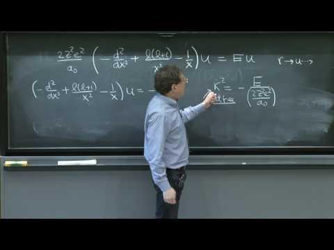 L22.3 Schrödinger equation for hydrogen.