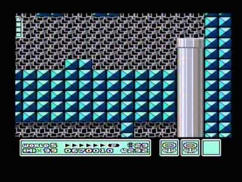 Let's Play Super Mario Bros 3 (Dutch) Part 5 World 5 Wolk Land