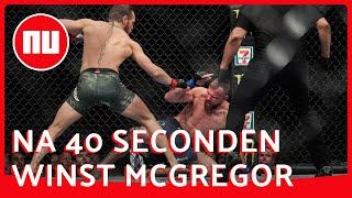 McGregor reageert op verbluffende rentree UFC | NU nl