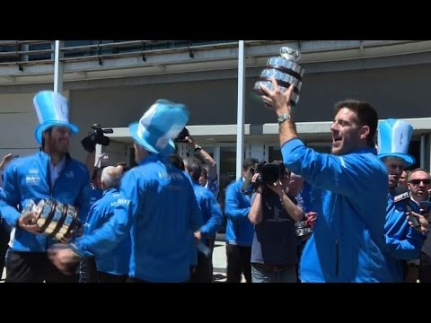 Argentine tennis players celebrate first Davis Cup title