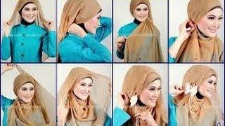 Beautiful Hijab Tutorial ♚ Tutorial Hijab 2016 : 2016 Easy And Fashionable Hijab Tutorial