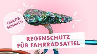 Fahrradsattel Schutzbezug aus Wachstuch nähen - gratis Schnittmuster!
