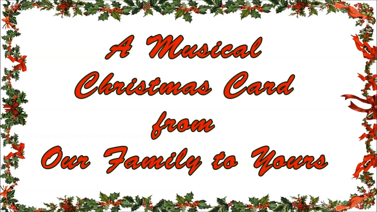 A Musical Christmas Card from Bertrand