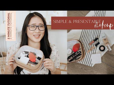 Simple & Presentable Makeup Tutorial For Girlbosses // 5 MINUTE TUTORIAL thumbnail