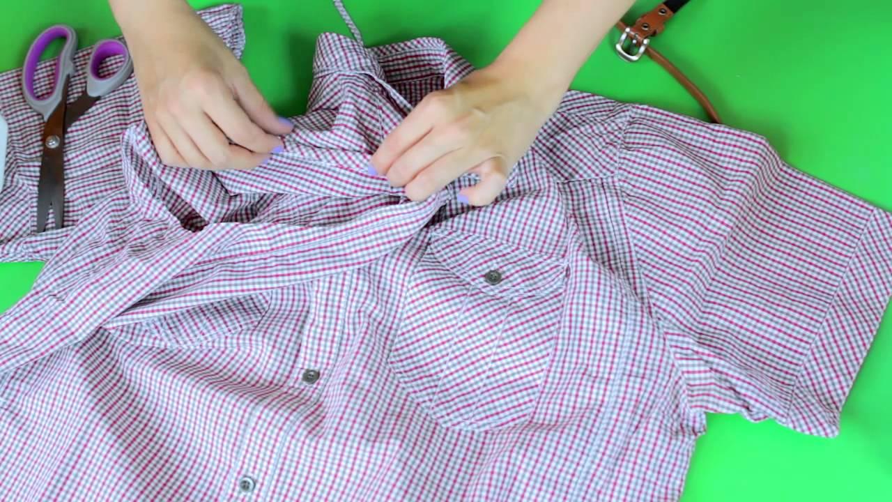 f36c783212 DIY  damska sukienka z męskiej koszuli - YouTube