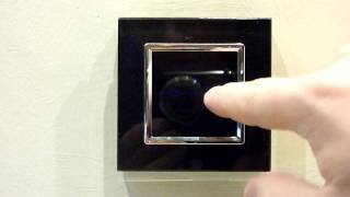 Black Glass Touch Light Switch 2 Gang 1 Way