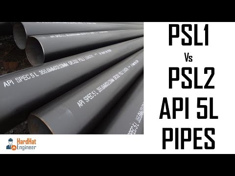 What is the Difference Between PSL1 and PSL2 Pipes ?