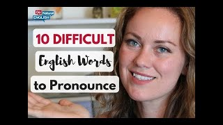 10 DIFFICULT English Words to Pronounce 😳