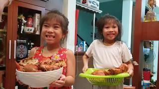 🦀07# 2 chị em Vân Anh Thùy Anh review cua và tôm càng Mỹ siêu dễ thương