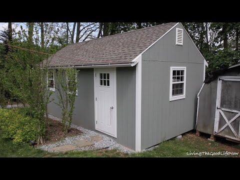 finished diy build 12 x 24 mega shed shack tiny house garage part 3 one year later