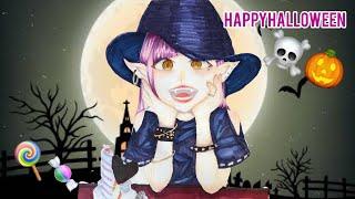 魔女の女の子描いてみた!Ready For Halloween!コピックイラストメイキングcopic