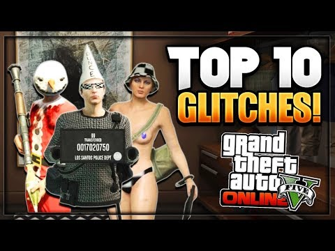 GTA 5 Online - ''TOP 10 WORKING GLITCHES'' 1.41 (No Bra Glitch, Invisible Glitch & More