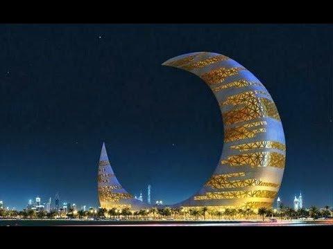 Crescent Moon Tower in Dubai  YouTube