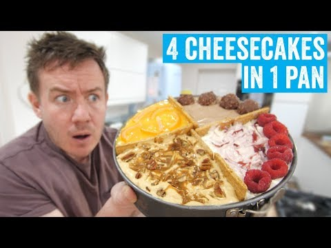 Tasty's '4 Cheesecakes in 1 Pan' | Barry tries #10