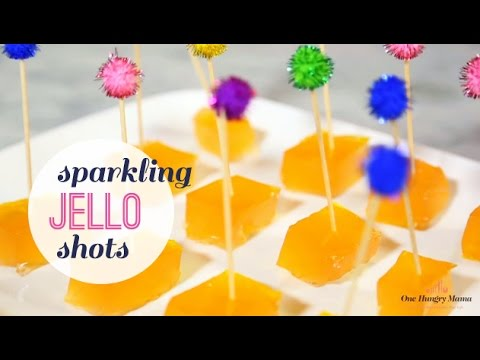 Sparkling Jello Shots (with Champagne or Cider!) | One Hungry Mama