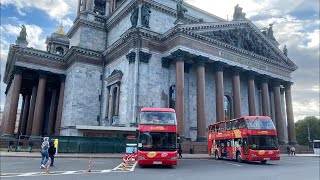 Red Double Decker Tour. St Petersburg, Russia. Live